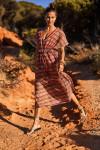 Robe de plage à rayures multicolores AKYRA MARAVILLA