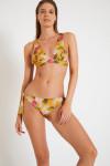 Maillot de bain jaune curry imprimé floral NEROLIE & JUSTE MANGENIE