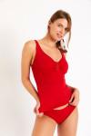 Maillot de bain 2 pièces rouge Cynthia & Stael Barfleur