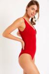 Maillot de bain 1 pièce rouge FRIDA BARFLEUR