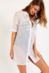 Chemise de plage blanc NOLIE SHANGHA