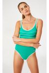 Maillot de bain une pièce femme uni vert Livia ANCOLIE LAVANDOU