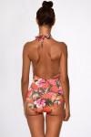 Maillot de bain une pièce imprimé fleuri corail GLORIA SALEYA