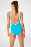 Maillot de bain 1 pièce bleu turquoise CARLINE SOLIMAR