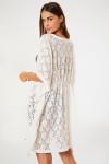 Kimono de plage dentelle blanche FERIEL MALAGUETA