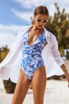 Chemise de plage en voile de coton blanche NOLIE MUSSOLA