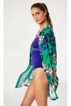 Chemise de plage verte imprimée à fleurs NOLIE VOILSPLENDIA