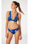Maillot de bain bleu indigo floral SICILYA & DANAE SPLENDIA