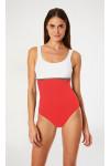 Maillot de bain une pièce femme bicolore rouge et blanc MEGRANIE TAMARINDO
