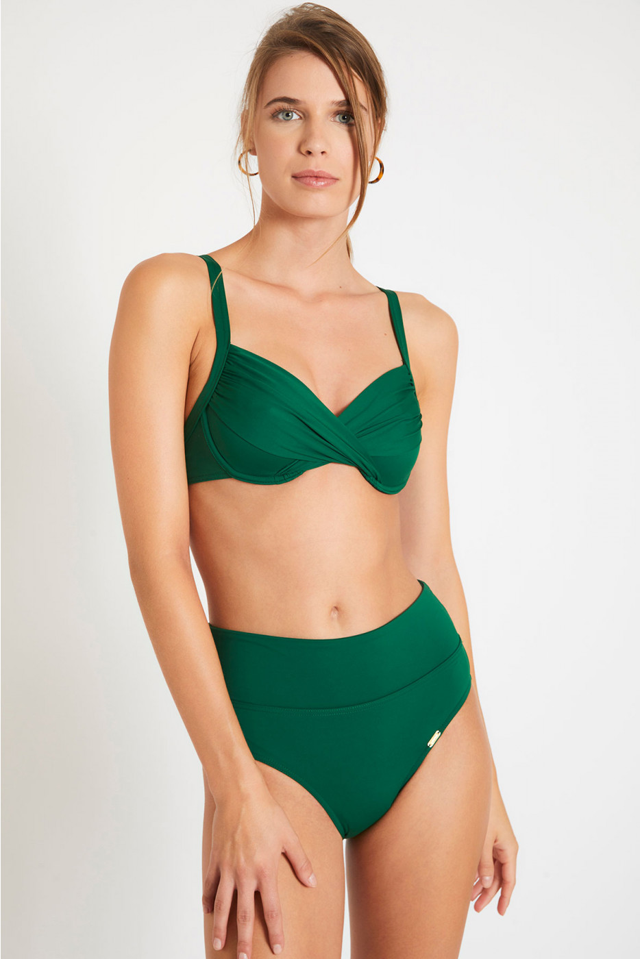 Maillot de bain à armatures vert SASKIA & ANDRA LAVANDOU