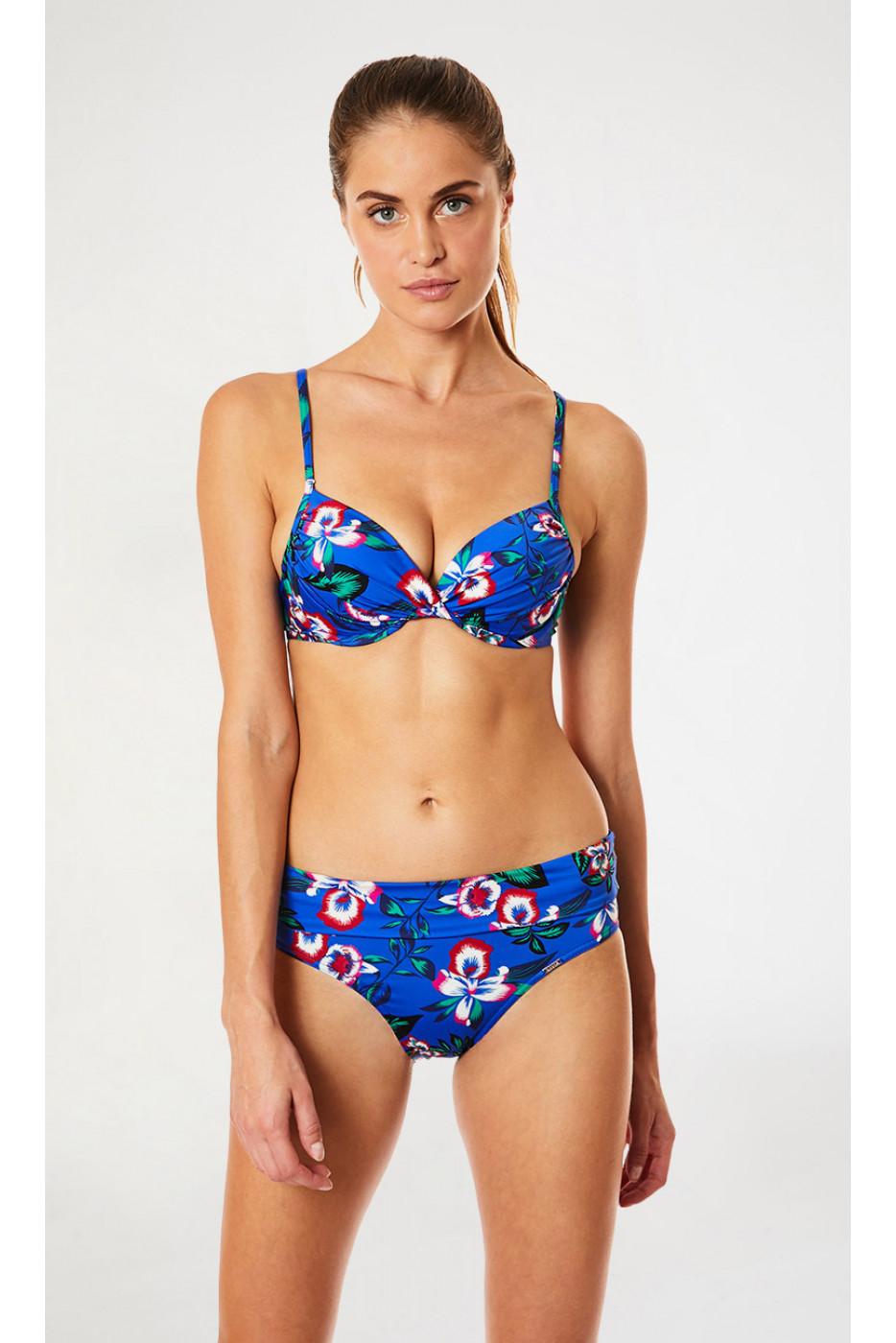 Maillot de bain bleu indigo floral PRALINE & ANDRA SPLENDIA