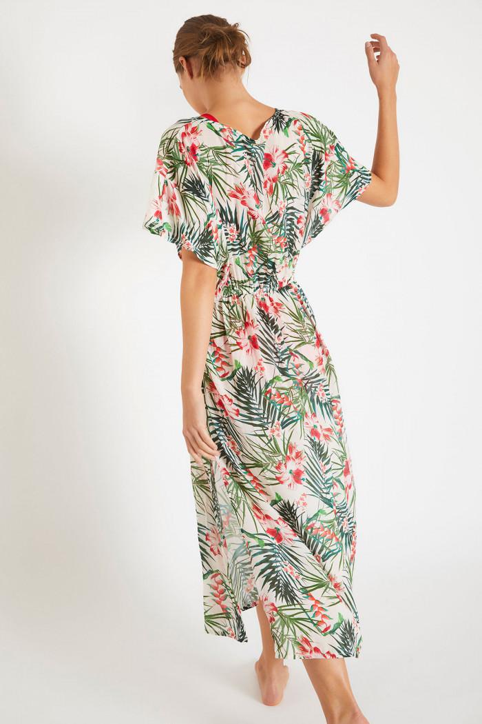 Robe de plage imprimé floral AKYRA VOILMANGLARES