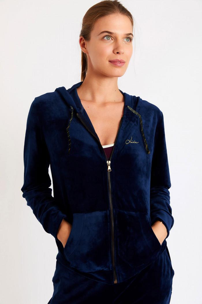 Veste de jogging femme bleu marine ASCO AGRIATES
