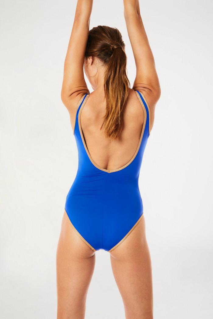 Maillot de bain une pièce bleu gitane ANCOLIE MYRTOS