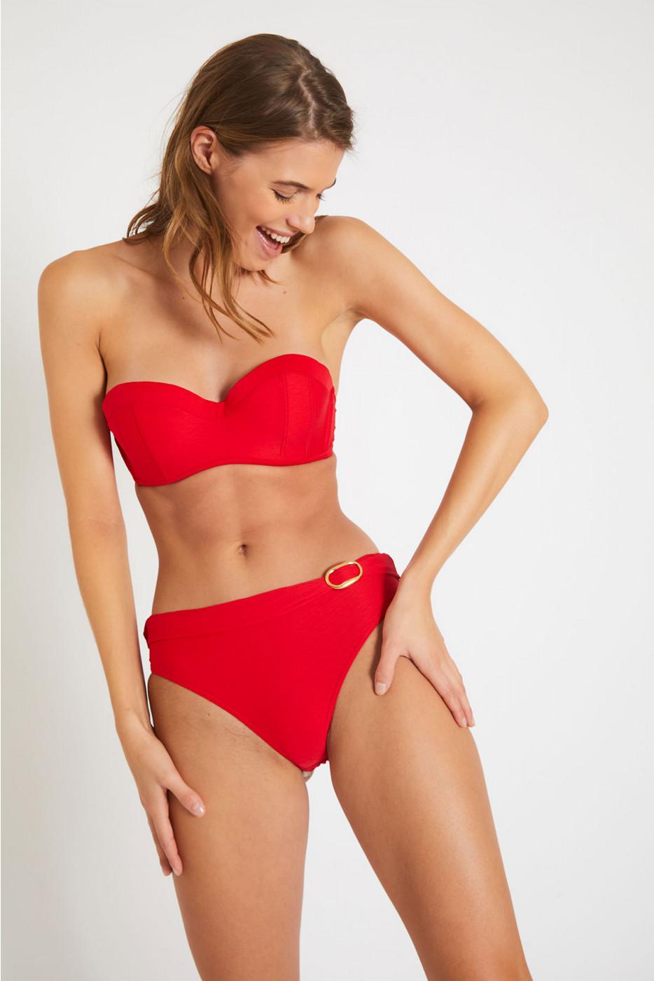 Maillot de bain texturé rouge ENEA & KANDY MERENGUE